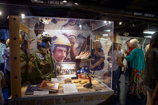 """The USS Lexington Museum on the Bay unveiled a new Carrier Row exhibit, which was dedicated to former executive director Capt. Frank """"Rocco"""" Monttesano on Friday, September 7, 2018 He was the executive director of the Lexington for 20 year, he died in April at the age of 68."""