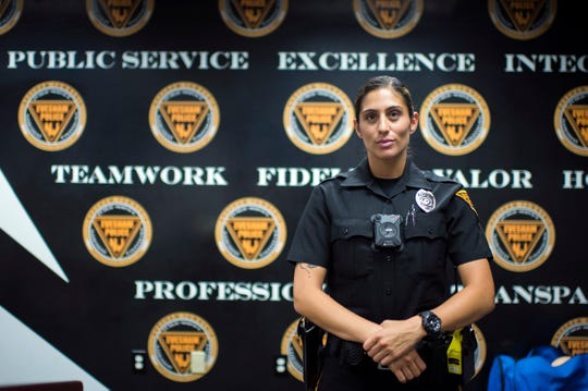 Evesham police officer Jessica Lettieri is being honored with an Award of Valor by the National Liberty Museum on Sept. 12. The Washington Township native will receive an Individual Meritorious Community Service Award.