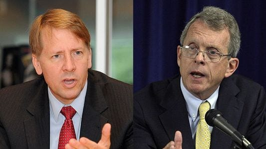 Rape kits, opioid crisis and Trump: Ohio governor candidates Rich Cordray and Mike DeWine come out swinging in first debate