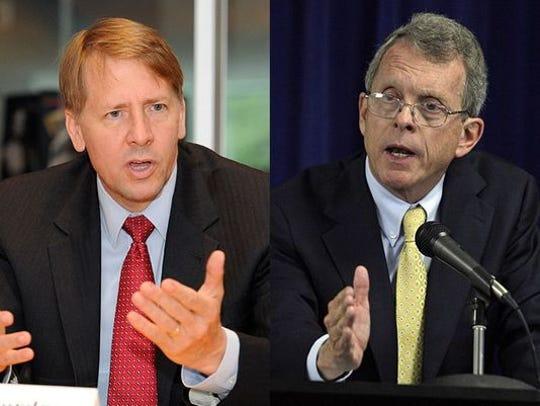 Democrat Rich Cordray is facing Republican Mike DeWine in the race for Ohio governor.