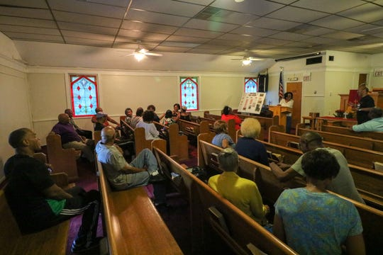During a recent meeting of The Hobbs Family Union at the Macedonia Baptist Church in the Hobbstown section of Bridgewater, group members talked about the family's history and plans for the future.