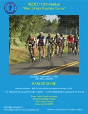 """The 11th Annual RCDCU Bike-a-Thon """"Bike to Fight Prostate Cancer"""" will be held on Saturday, Sept. 15."""