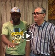 Carteret Republican mayoral candidate Fred Gattuso is pictured with one of his supporters, Jamal Merritt, on Sept. 6 at a Town Hall meeting posted on Facebook Live. The public event took place hours after a culturally diverse array of local clergy accused Gattuso of making racists posts five or more years ago on social media and called for his withdrawal.