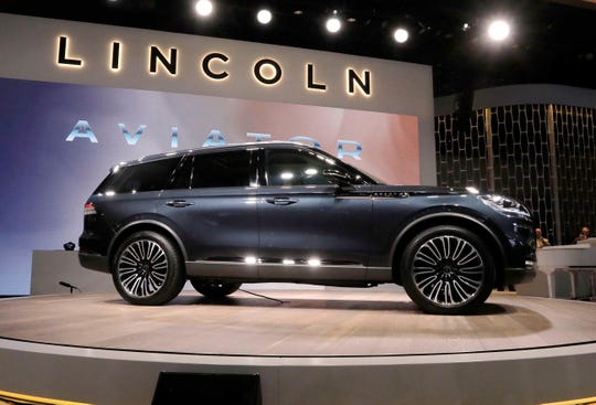 The 2019 Lincoln Aviator is introduced during New York International Auto Show in March 2018.