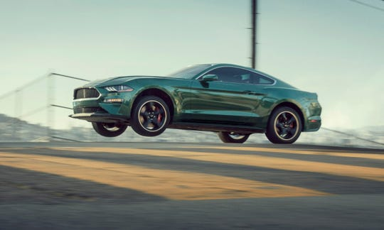 The 2019 Ford Mustang Bullitt goes airborne on the streets of San Francisco in 2018