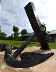 The 1,000-pound anchor that is part of the Freiwald Memorial is from the 1840s and believed to be from a wooden schooner.