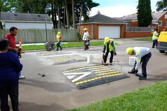 Speed bumps were installed on Sussex and Curtis Street near Peterson Playfield on the city's northwest side.