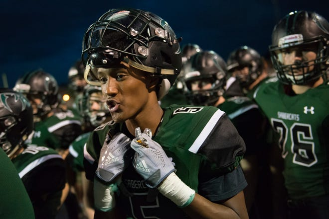 Fossil Ridge senior wide receiver Niles Tilley scored two touchdowns in his team's 42-23 loss to Arvada West on Thursday at French Field.