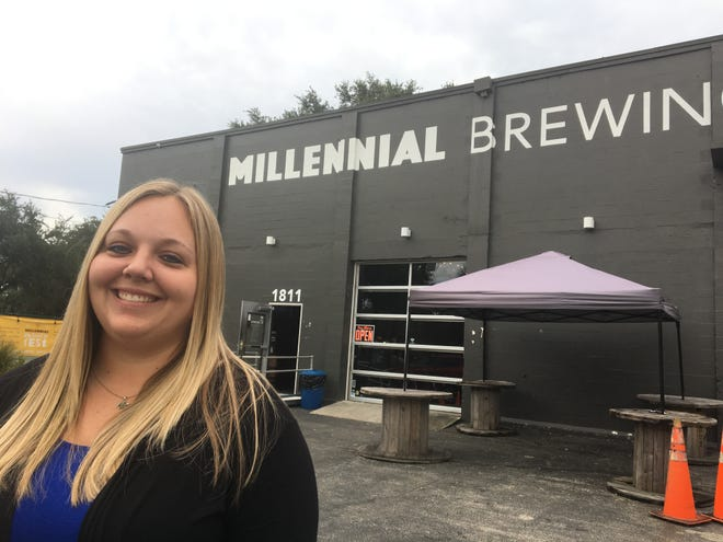 Allison Leone is chair of the Southwest Florida Chapter for the American Foundation for Suicide Prevention. She's in front of Millennial Brewing Company, which will have a fundraiser from 5:30-8:30 p.m. on Sept. 14.