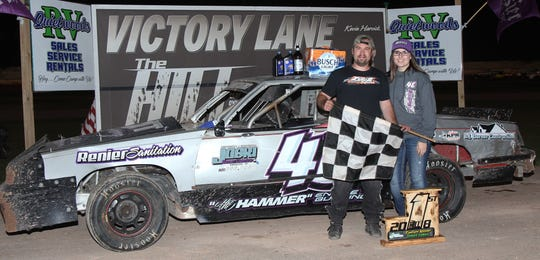 """Luxemburg's Dave """"The Hammer"""" DeGrave mopped up in the street stock class in 2018, picking up track titles at The Hill in Sturgeon Bay and Luxemburg Speedway."""