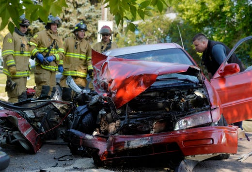 Police response ends in messy pileup Friday morning in Great Falls