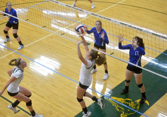 CMR takes on Havre in the Uptown Optimist Electric CIty Invitational Volleyball Tournament on Friday.