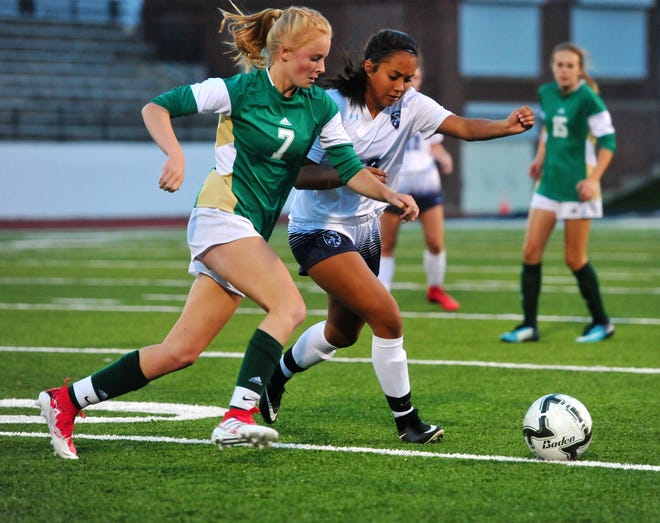 CMR's Emily Funseth played well in the midfield Tuesday night as the Rustlers defeated Great Falls High 4-0.