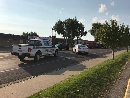 A pedestrian was struck by a vehicle on 13th Street South near Holiday Village Mall Friday morning.