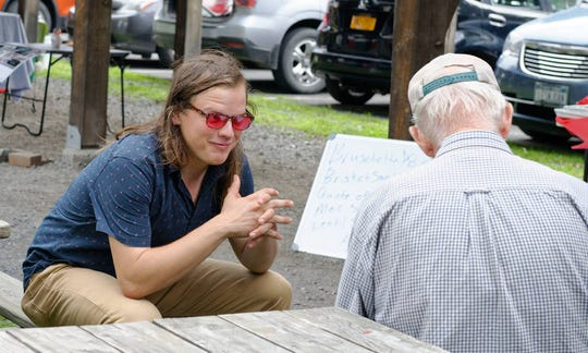Josh Brokaw at the Trumansburg Farmers Market