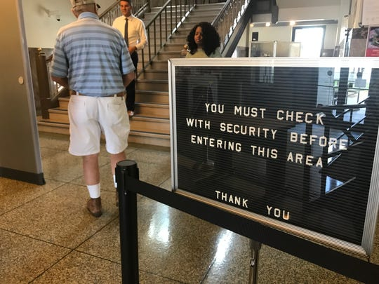 All visitors to the Madison County Courthouse must now pass through a security checkpoint before conducting any business in the courthouse building.