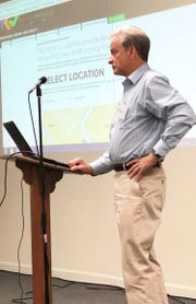 Gerald Green, executive director, Knoxville-Knox County Metropolitan Planning Commission, fields questions from concerned residents at Recode Knoxville community meeting on Aug. 30 at the Church of the Good Shepherd.