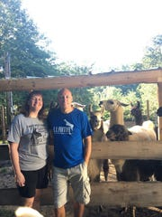 Johnna and Steve Garrett own 11 llamas and one alpaca. They both operate the farm while Johnna also works in the gift shop of the Titanic Museum in Pigeon Forge. Steve is getting a second company up and running, selling cellular service, television, internet, home security and other services.