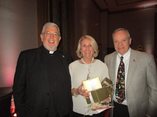Fr. Jeff Bayhi, Linda and Hunt Downer