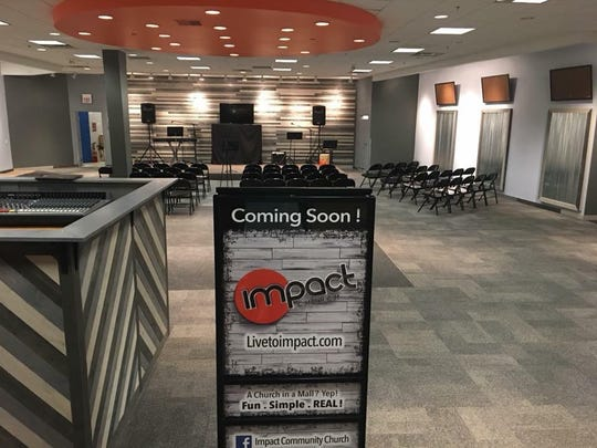 Impact Church in Delta Township is scheduled to have its first service 10:30 a.m. Sept 16 at Lansing Mall. The church started in Grand Ledge with about 20 people.