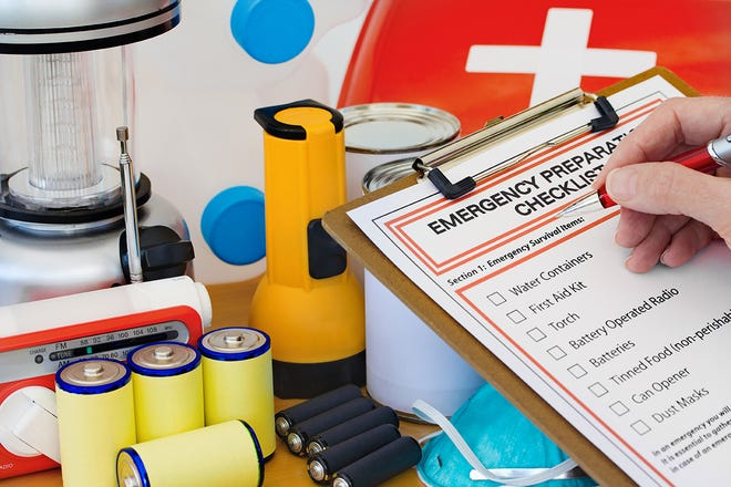 Be ready for disaster by checking off the items on the emergency  preparedness form