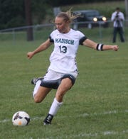 Madison's Taylor Huff scores a goal against Ashland on Thursday.