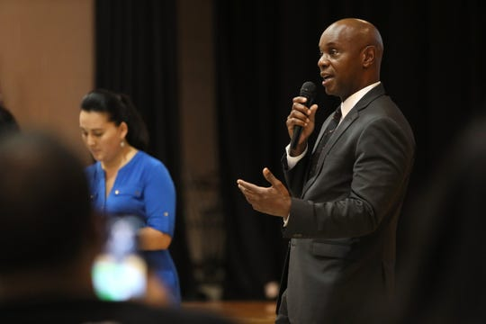Shelby County Schools Superintendent Dorsey Hopson speaks to parents and students of Kirby High School about the decision to shut the school down for at least six weeks after discovering a rat infestation. The announcement was made during a meeting at Hickory Ridge Middle School on Thursday, Sept. 6, 2018, along with the news that the school district is still weighing options for the students to remain together at another location for the fall.
