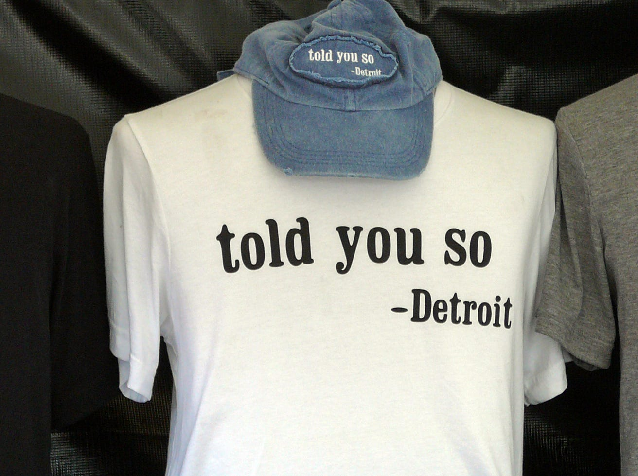 Clothing options for people bullish on Detroit's future.