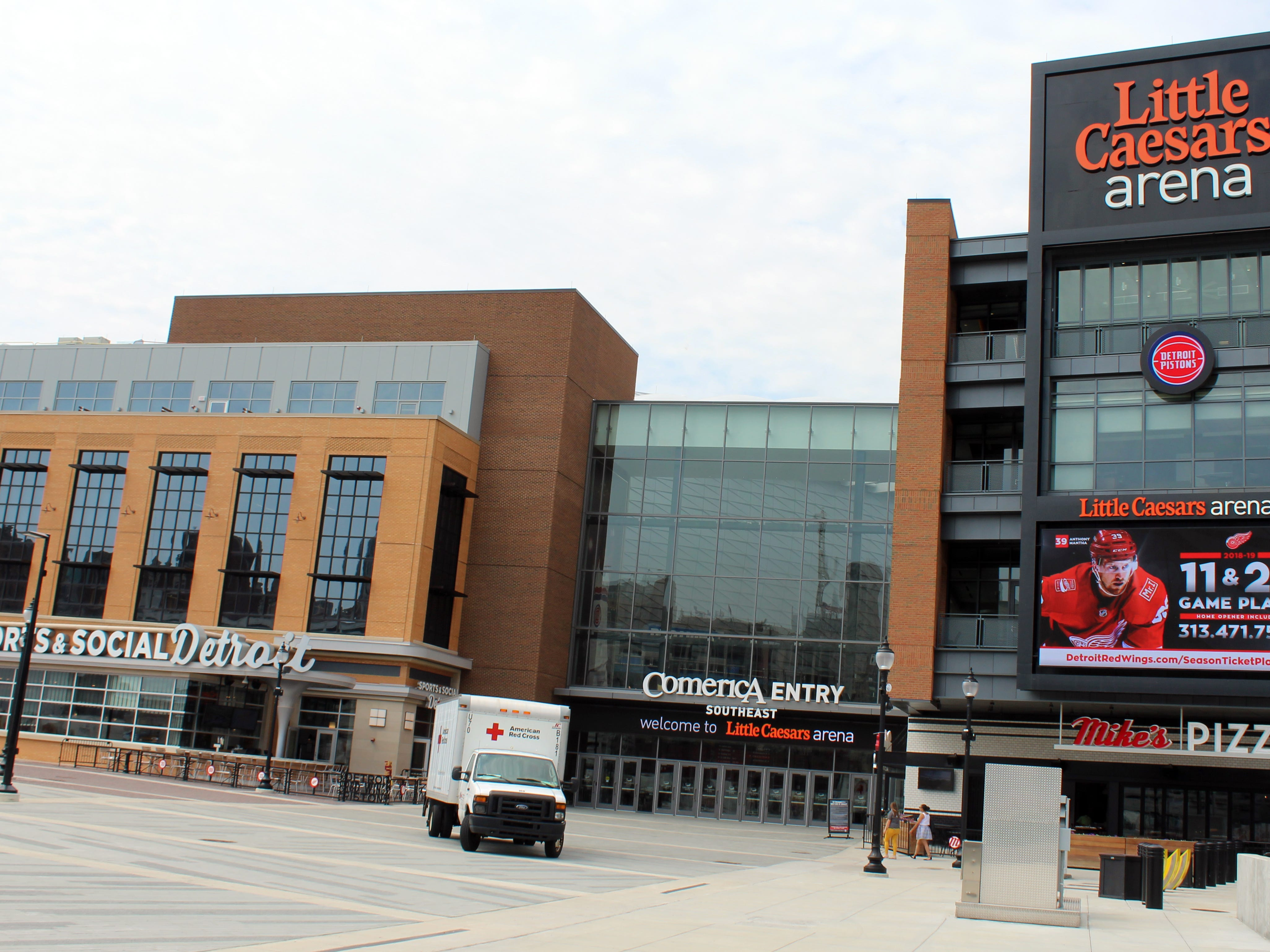 Open since September 2017, the Little Caesars Arena in Detroit is home to the NBA Pistons and NHL Red Wings.