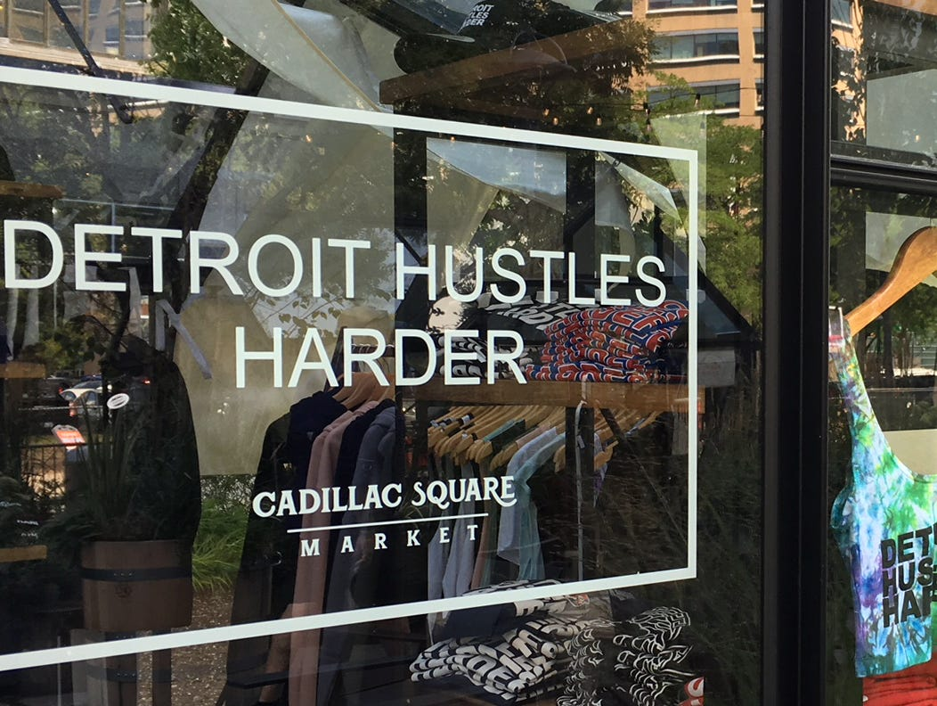 A visitor to Detroit can find plenty of positive attitude.