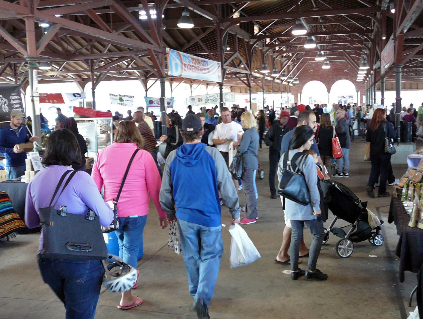 Detroit's Eastern Market is open Saturdays year round.