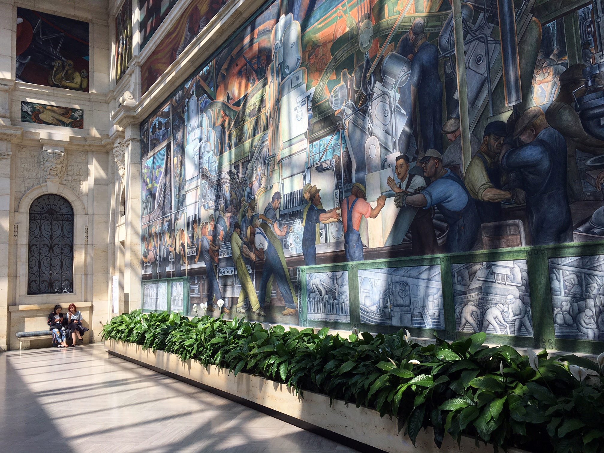 A view of a Diego Rivera mural at the Detroit Institute of Arts.