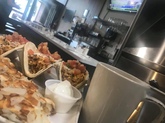 Breakfast tacos with ribbon-cut hash browns at the new MidTown Grill, 8913 W. North Ave., Wauwatosa.