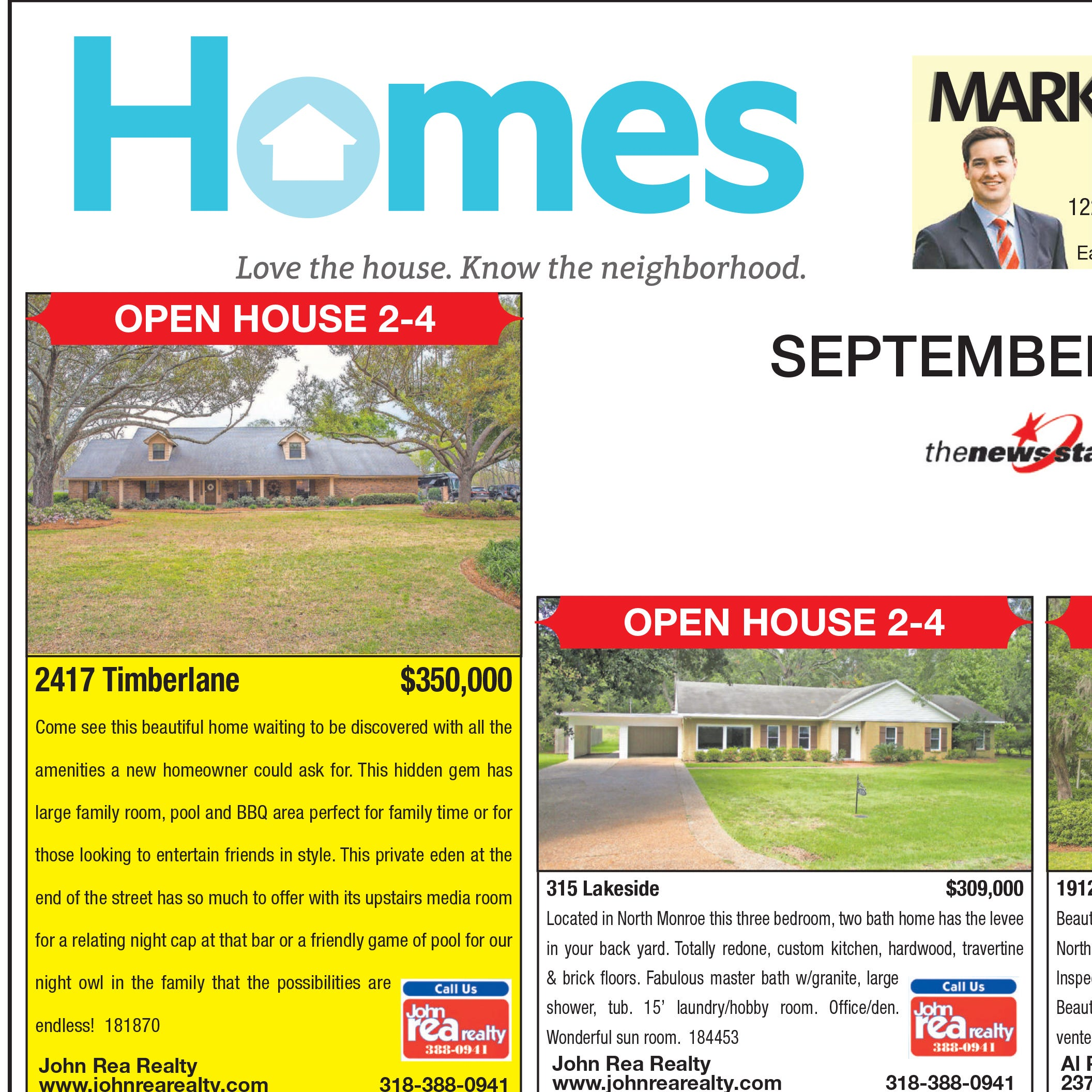Homefinder: Sept. 9, 2018