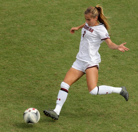 Anna Conklin of Randolph played defense at South Carolina for four years.