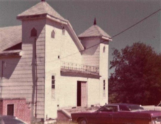 Antioch Baptist Church was organized in June 1818. This picture shows the church on Gibbs Road in Mt. Meigs in the 1970s.