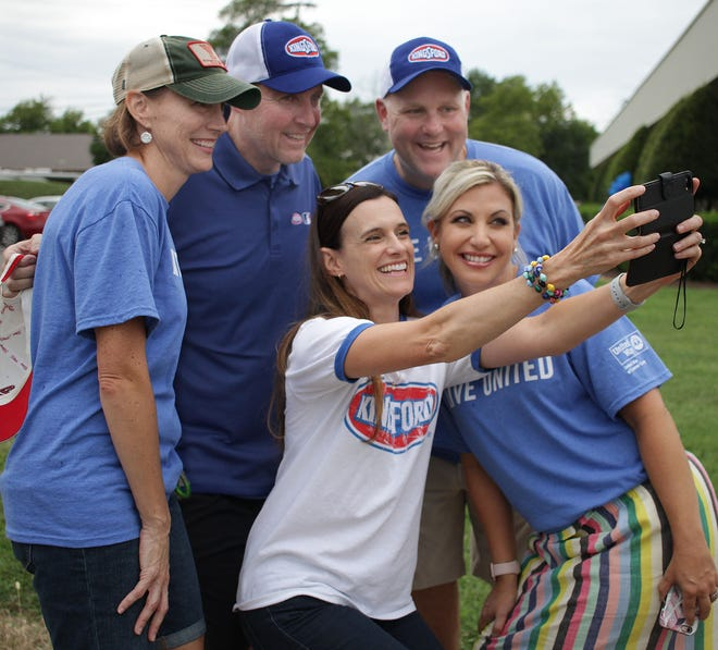 L-R Taking a selfie are Kyann Graham, Mark Ware, Carlye White , front Angie Waller and Erin Birch at the United Way of Sumner County 2018 Campaign Kickoff on Thursday, September 6, 2018.