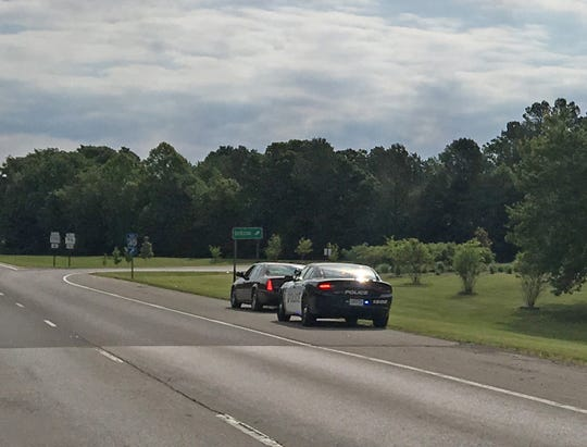 Fairview Police on a Highway 100 traffic stop.