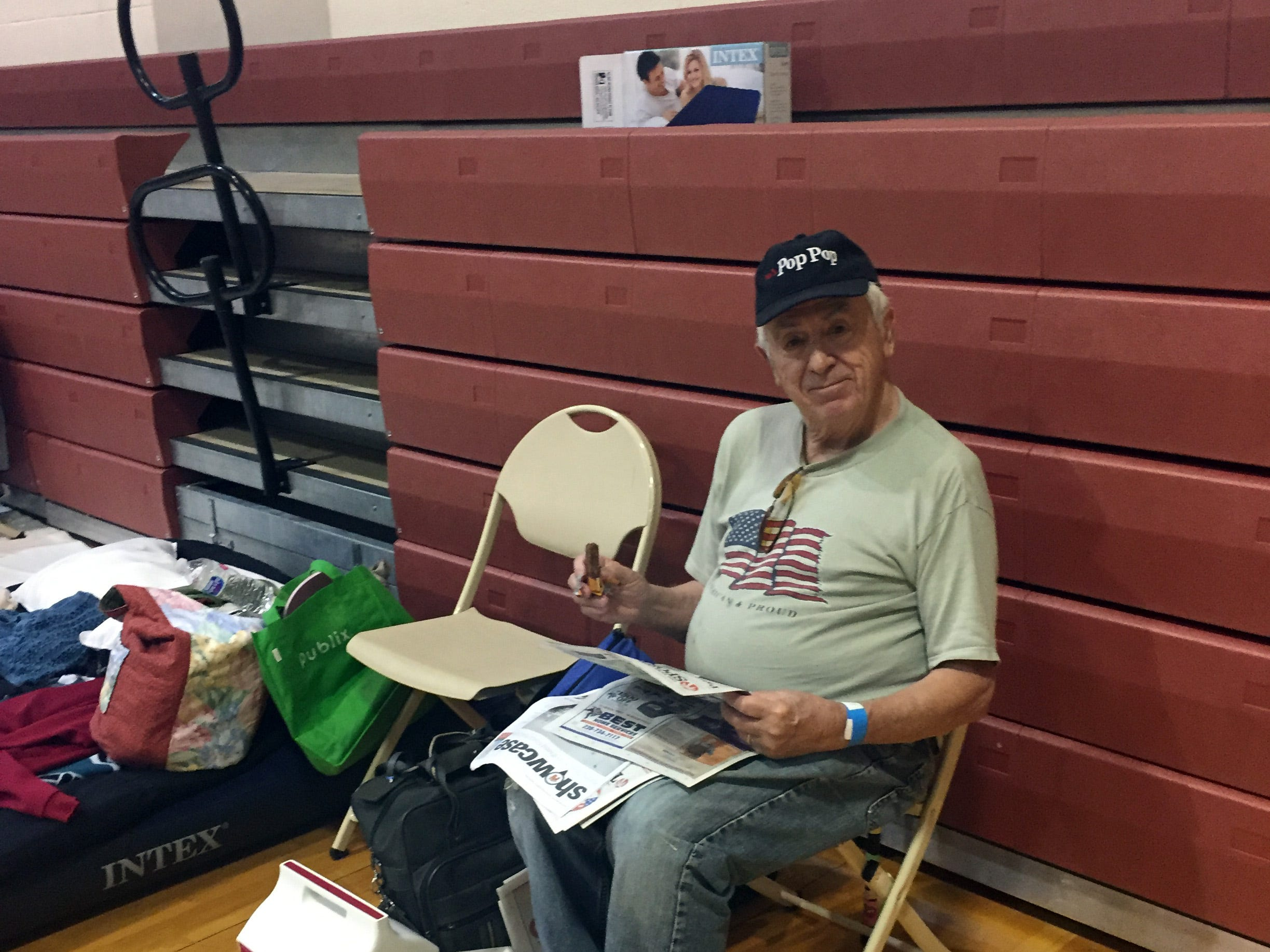 Theresa Galante and her husband, Tony, stayed at the Estero Recreation Center during Hurricane Irma.