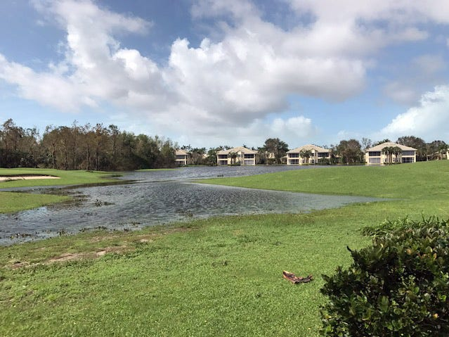Tom Massey shared this photo after Hurricane Irma in Lely Resort.