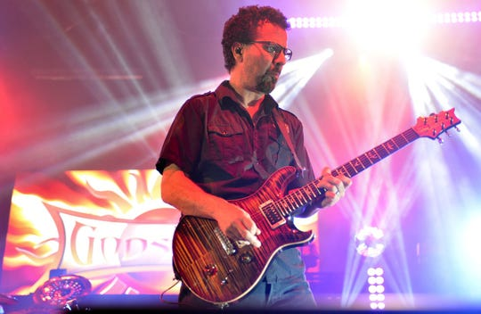 ?With (Apocalypse Blues Revue), I?m free to do whatever I want. It does showcase the guitar more, I would say,? said Tony Rombola.   Seth Graves / For the Enquirer Godsmack guitarist Tony Rombola