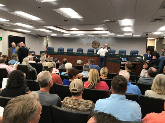 Collier County held a public hearing on its proposed budget, property tax rate and a planned stormwater fee Thursday, Sept. 7, 2018 .