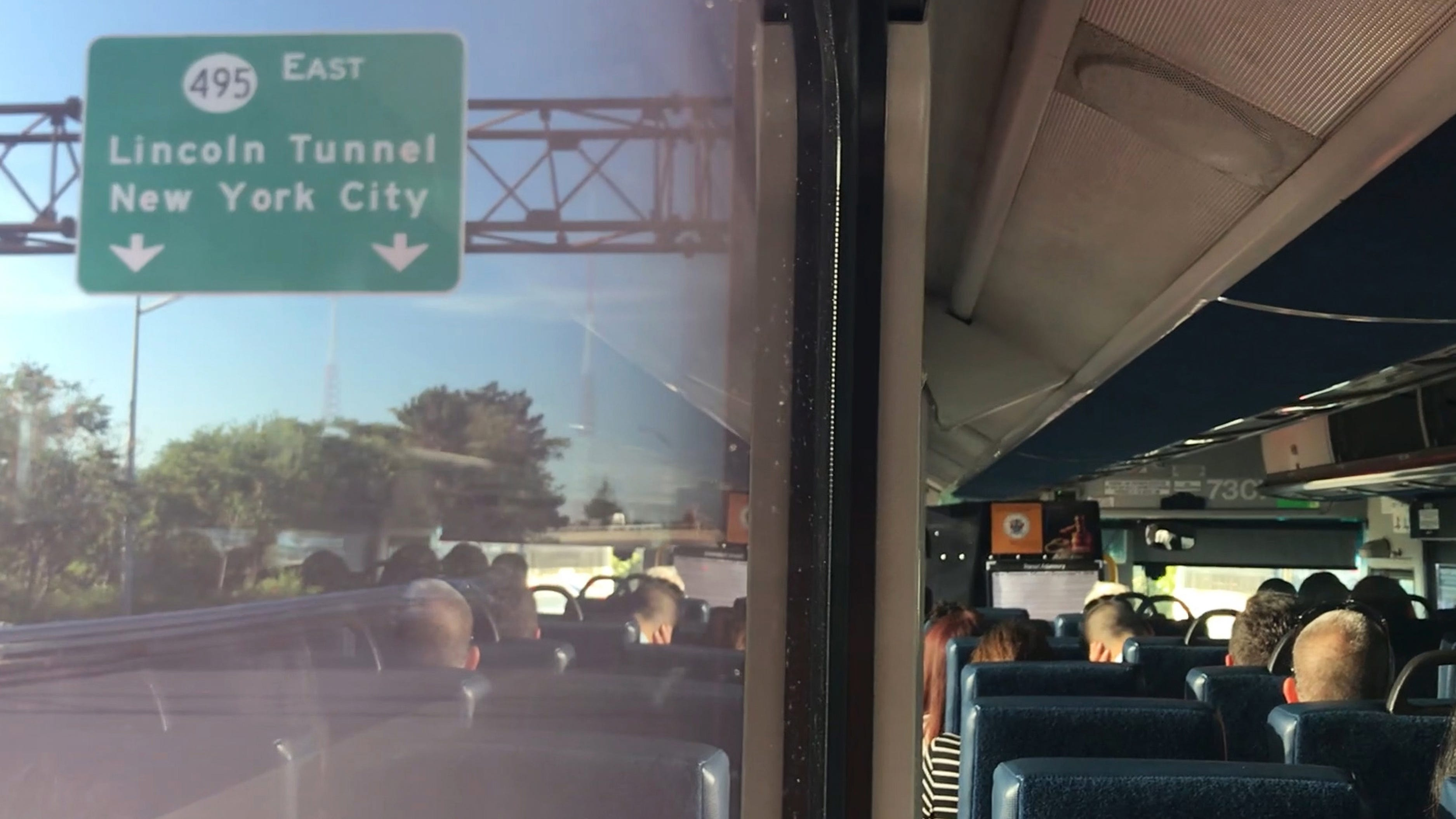Voices from riding NJ Transit Bus to NYC