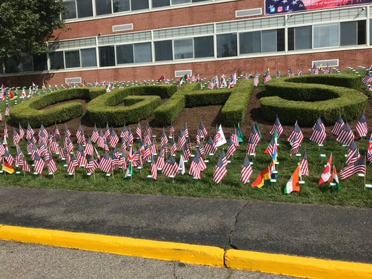 Cedar Grove Waves features 2,977 flags representing each victim in the Sept. 11, 2001, terrorist attacks.