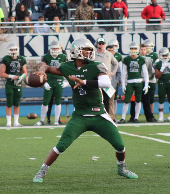 DePaul's Ta'Quan Roberson hit on 17 of 26 passes for 275 yards and four TDs with an interception, and carried four times for 78 yards and a score against Pope John.