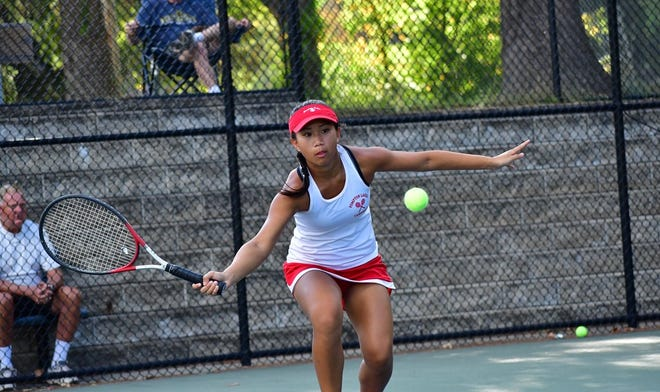 Senior Charla Lim is one of six starters back for the Pompton Lakes girls tennis team this fall. Lim, a 2017 Passaic County finalist at first singles, helped lead the Cardinals to a 13-3 record last season.