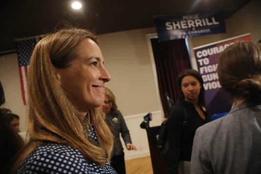 Former Arizona Congresswoman Gabby Giffords And Her Husband Former Nasa Astronaut Mark Kelly Came To The Woodland Park American Legion Post To Campaign For Mikie Sherrill Who Is Running For The House Of Representatives In The Nj 11th Congressional District Against Jay Webber
