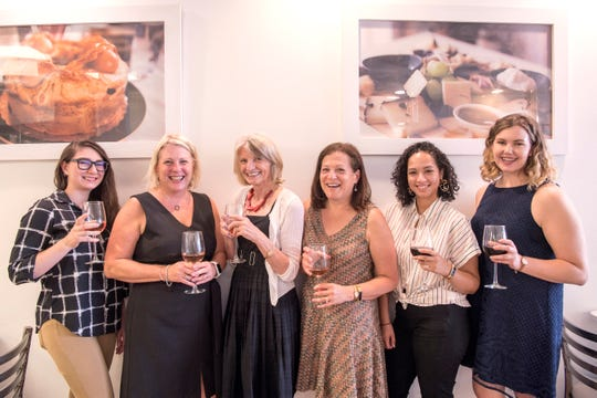 (from left)  Digital Producer and Trending Reporter Jessica Presinzano, Senior Director Liz Johnson, Food Editor Esther Davidowitz, Food Editor and Writer Cindy Schweich Handler, Social Media Editor Elyse Toribio, and Food Writer Rebecca King at From Scratch in Ridgewood on Thursday, September, 6, 2018.