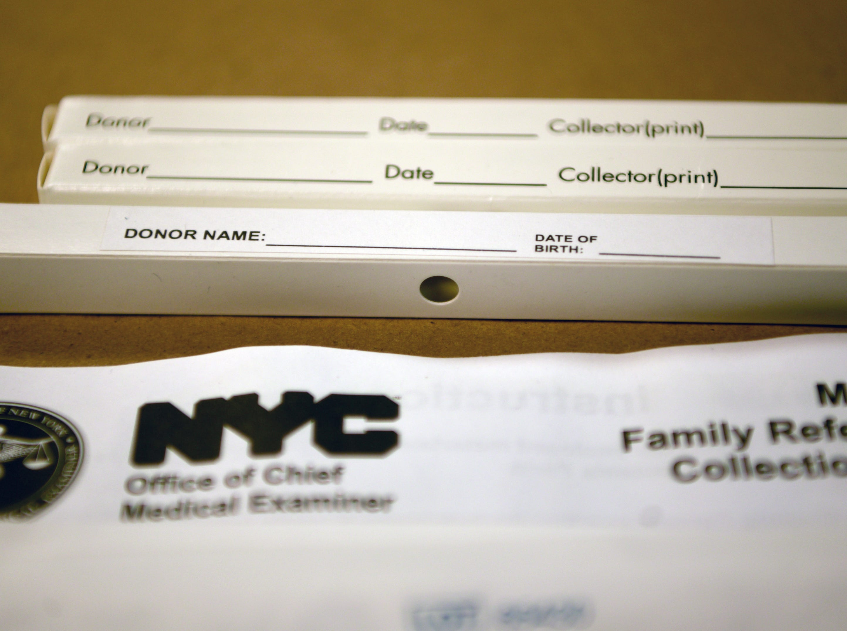 The New York City Office of Chief Medical Examiner handles DNA testing for unidentified persons, including victims of the attacks on the World Trade Center on 9/11.