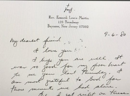 Letter from Rev. Martin to Mark Crawford.